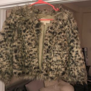 Michael Kors Cropped fur jacket worn once